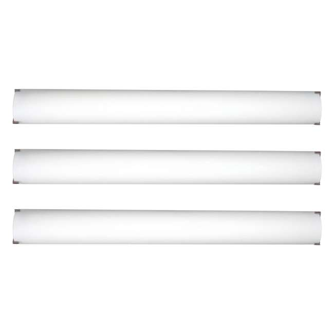 3 x PLC-FT0002836 Philips Forecast 40W LED Edge Bathroom Wall Light, Nickel (3 Pack)