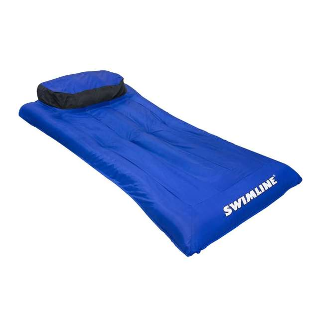 3 x 9057 Swimline 9057 Swimming Pool Inflatable Fabric Covered Air Mattress (3 Pack) 1