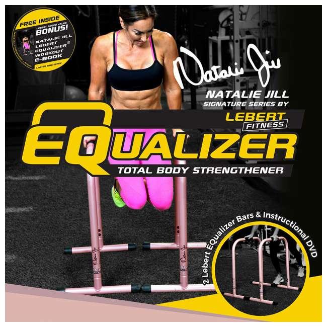 LFI-EQ-ROSEGOLD Lebert Fitness Natalie Jill Total Body Strengthener Steel Equalizers, Rose Gold 5