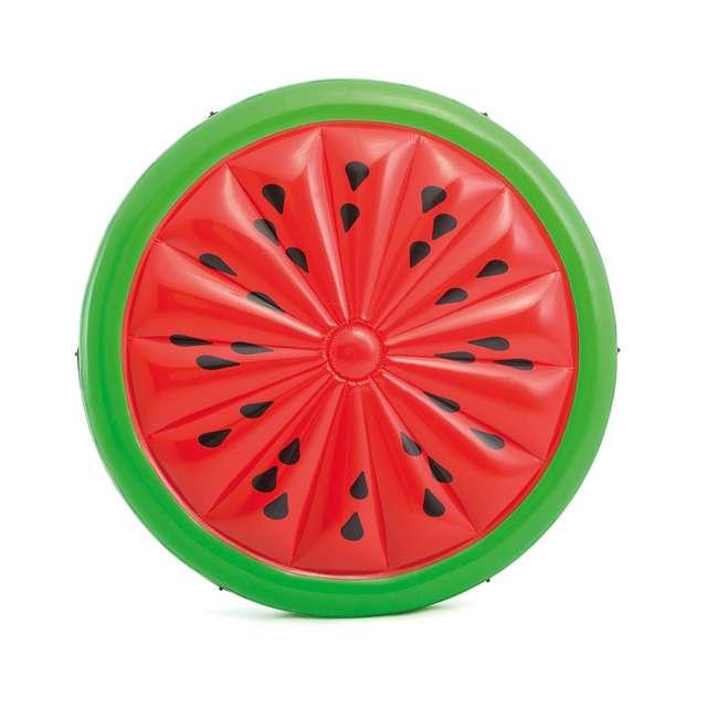 56283EP + 66639E Intex  72-Inch Watermelon Island Raft | Intex 120V Quick Fill AC Air Pump 1