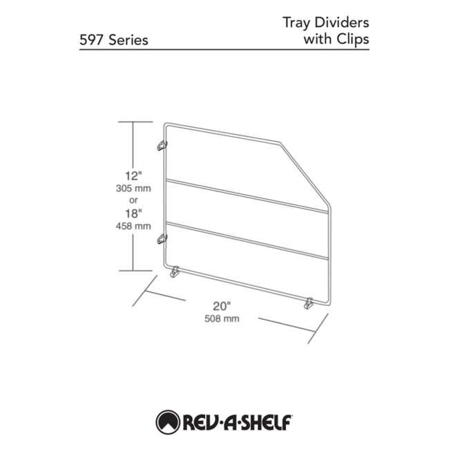 597-18-52 Rev-A-Shelf 597-18-52 18 Inch Bakeware Wire Kitchen Cabinet Organizer, White 3