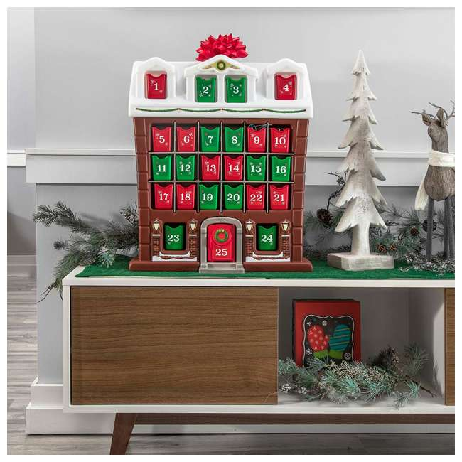 491700 Step2 My First Advent Month Calendar Snowy Holiday Cottage w/ Individual Bins 4
