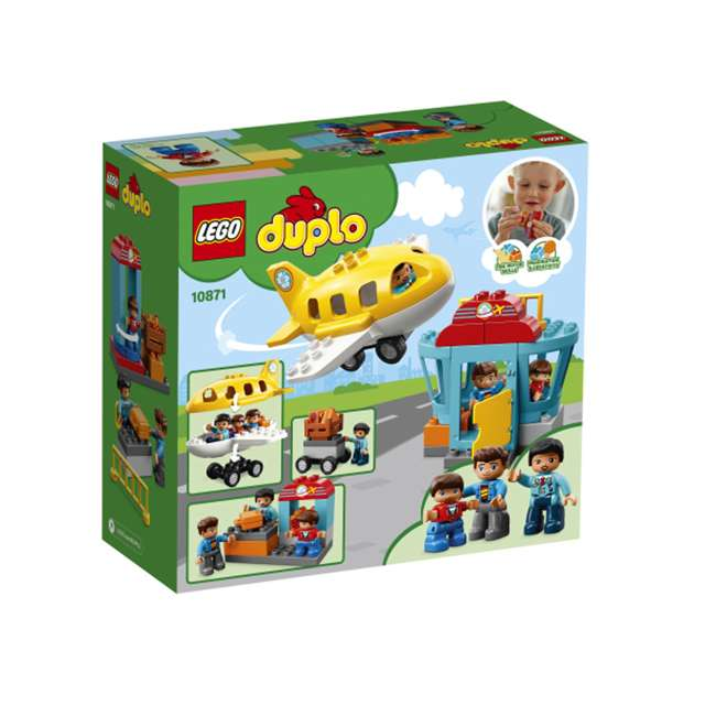 6213743 LEGO DUPLO 29-Piece Town Airport Travel Building Toddler Playset (2 Pack) 1