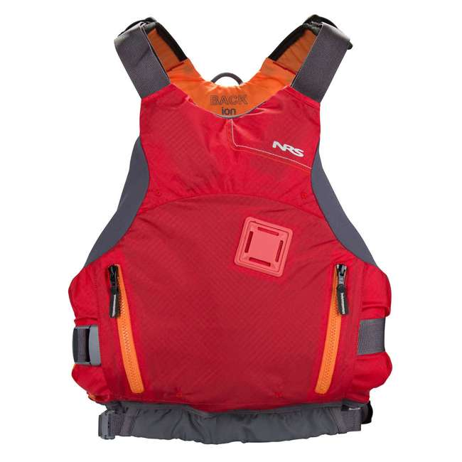 NRS_40056_01_104 NRS Ion PFD Adult Life Jacket Vest with Pockets, Red, L/XL