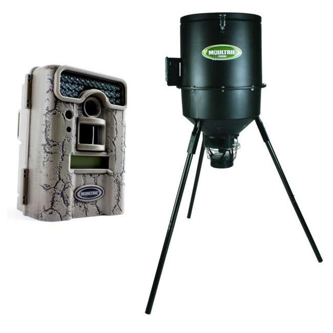 D55-IRXT + EZF30T D55IRXT - MOULTRIE Game Spy Digital Infrared Trail Hunting Camera + EZF30T 30Gal Tripod Feeder