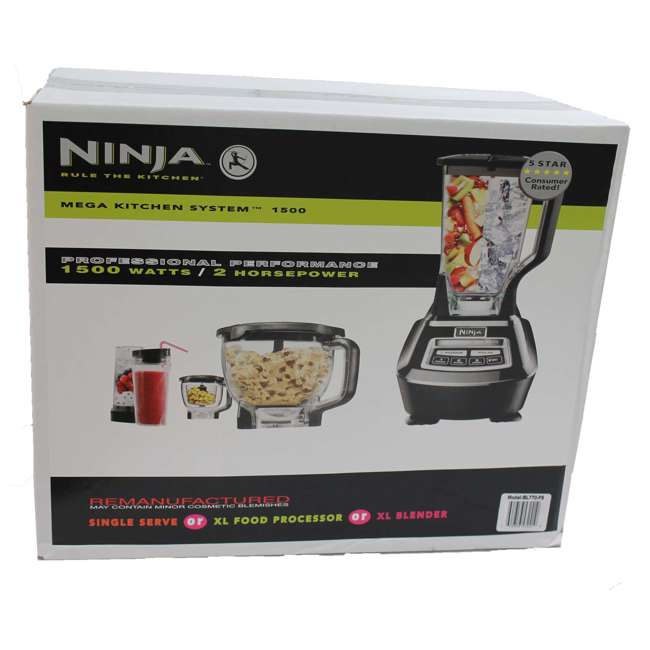 Ninja Mega Kitchen Blender + Nutri Ninja & Prep Bowl (Refurbished)