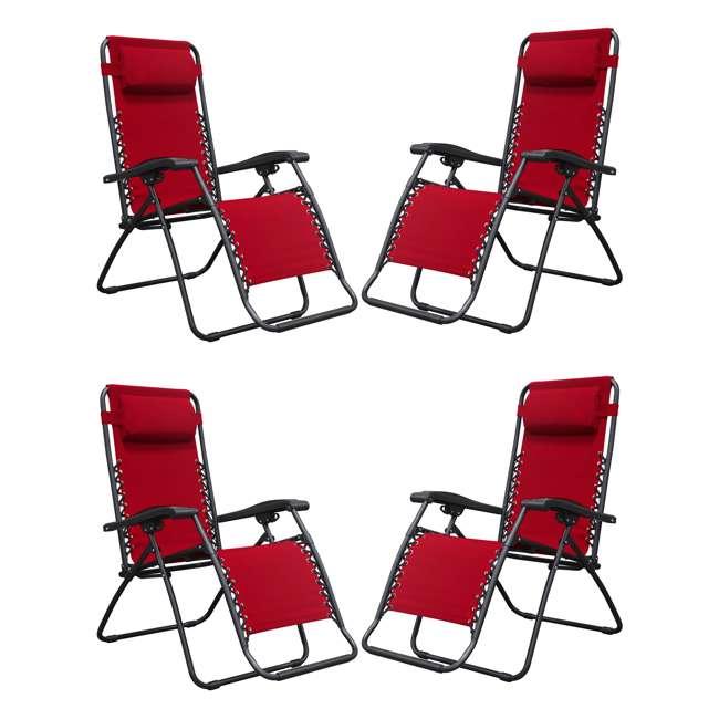Sensational Caravan Canopy Sports Infinity Zero Gravity Patio Chair Red Alphanode Cool Chair Designs And Ideas Alphanodeonline