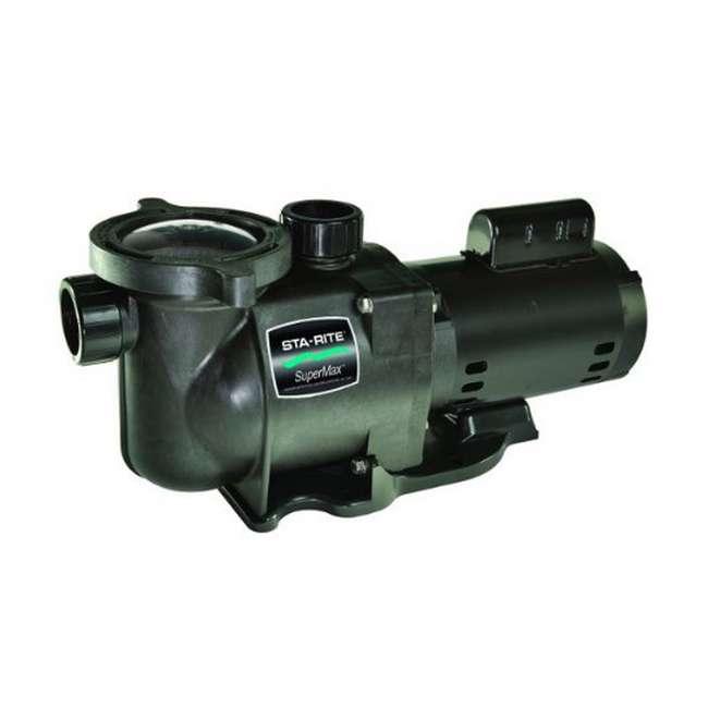 Sta rite supermax 1 5 hp swimming pool pump phk2ra6f 103l for Sta rite pool pump motors