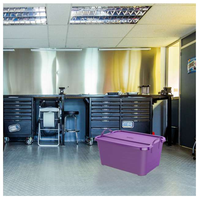 CS55PP-SOLID-U-A Life Story 55 Quart Locking Stackable Storage Container, Purple (Open Box) 4