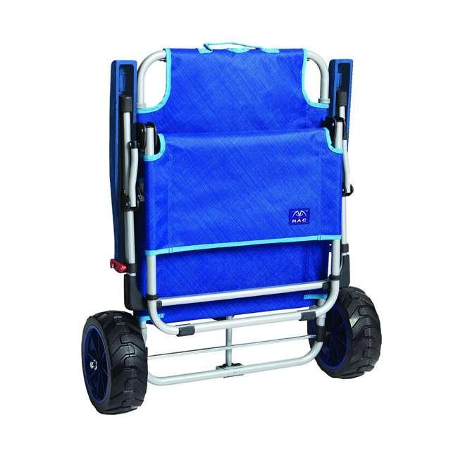 MAC-BD-200 Mac Sport 2-in-1 Beach Day Folding Lounger Chair & Wagon Cart w/ Lock, Blue 4