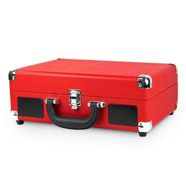 VSC-550BT-RD Victrola 3-Speed Bluetooth Suitcase Record Player, Red 1