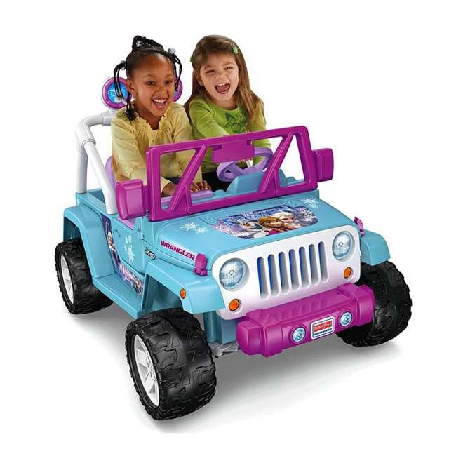 CLD96-U-A Power Wheels Disney Frozen Jeep Wrangler 12V Electric Kids Ride On Toy(Open Box) 1
