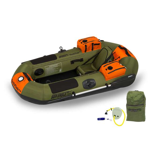 PF7-DELUXE Sea Eagle PackFish7 Deluxe Frameless Inflatable Fishing Boat