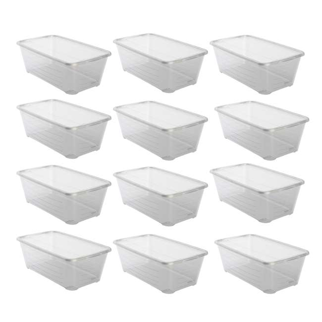 12 x MHSB Life Story 5.7-Liter Clear Shoe Closet Storage Box Container (12 Pack)