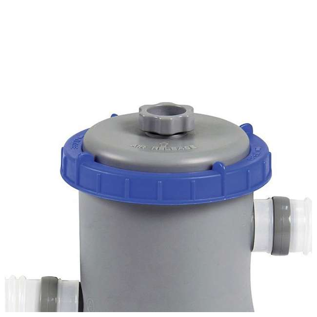 56545E-BW + 58382E-BW Bestway Above Ground Pool and Flowclear Filter Pump  7