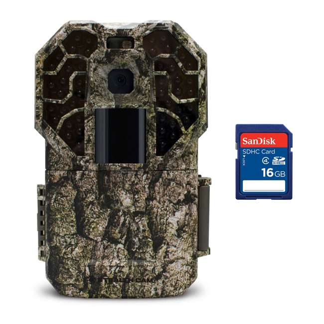 STC-G45NGX + SD4-16GB-SAN Stealth Cam Camouflage Hunting Trail Game Camera + 16GB SD Card
