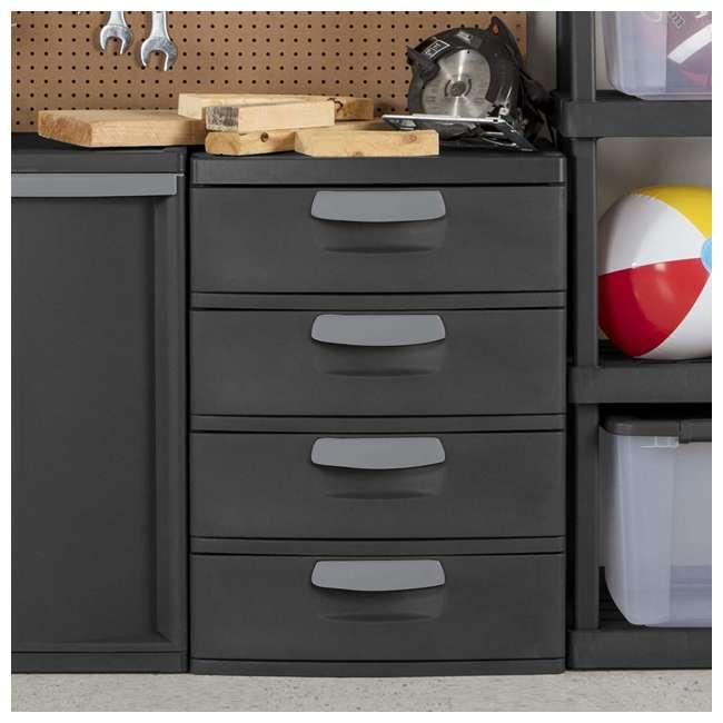 6 x 01743V01 Sterilite 4-Drawer Storage Unit (6 Pack) 4