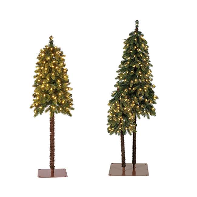 TV50P2819L01 + TV40P2819L00 Home Heritage 3 Foot & 5 Foot Twin Trees w/ 4 Foot Artificial Christmas Tree