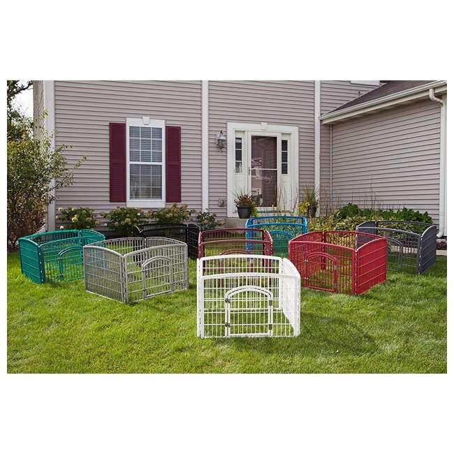 585600 IRIS USA 585600 4-Panel Plastic Indoor Outdoor Pet Playpen, Everglade Green 3