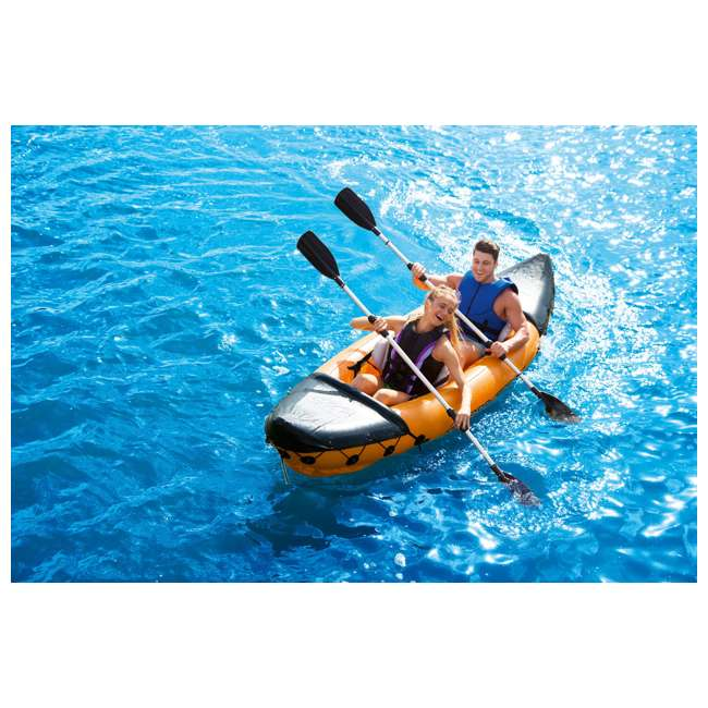65077E-BW Bestway 126 x 35 Inches Lite-Rapid X2 Inflatable Kayak Float with Oars | 65077E 8