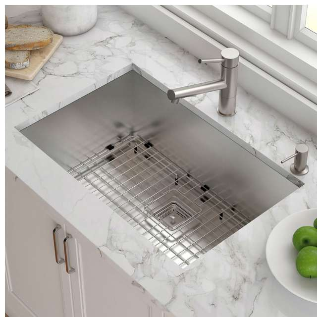 KHU29 Kraus Pax 28-Inch Rectangular Undermount Stainless Steel Kitchen Sink (2 Pack) 3