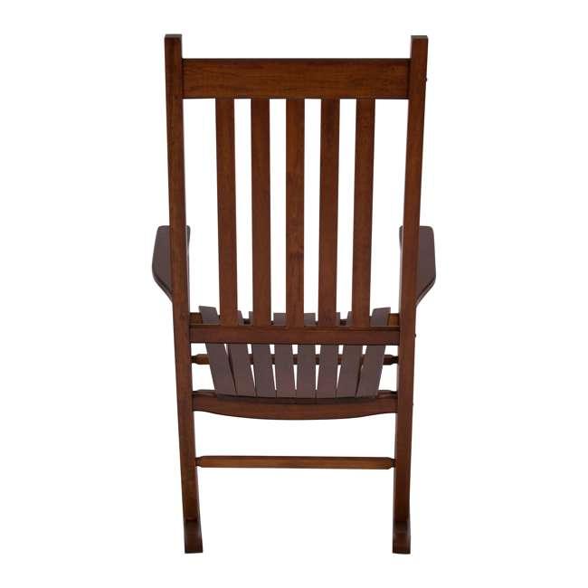 SHN-4332OA Shine Company Vermont Hardwood Outdoor Porch Patio Furniture Rocker Chair, Oak 1