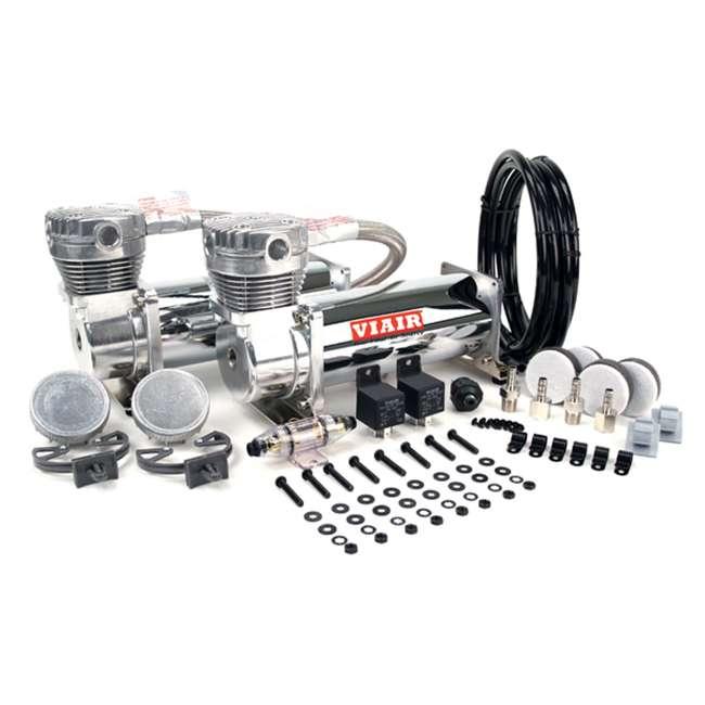 48032 VIAIR Dual 12-Volt 200-PSI Chrome Air Compressor Kit Value Pack (2 Pack) 1