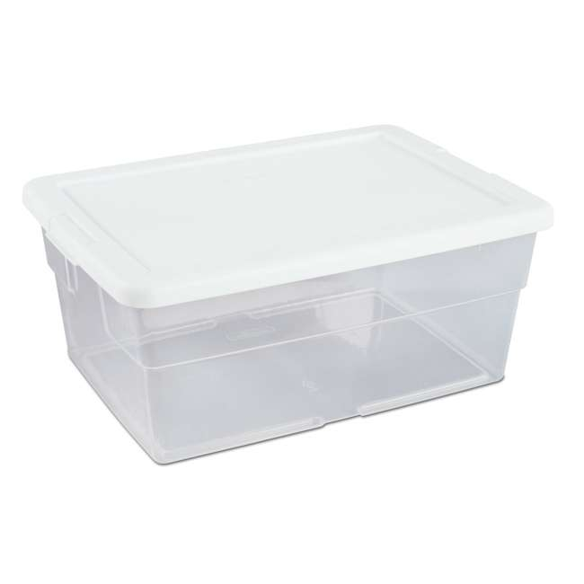 60 x 16448012-U-A Sterilite 16 Quart Storage Sweater Tote Box Container Tub (Open Box) (60 Pack) 2