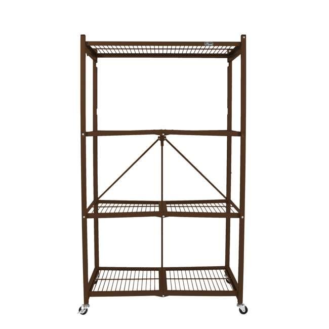 R5-VBW-2 Origami 4-Shelf Foldable Storage Racks, Vintage Bronze (Pair) 2