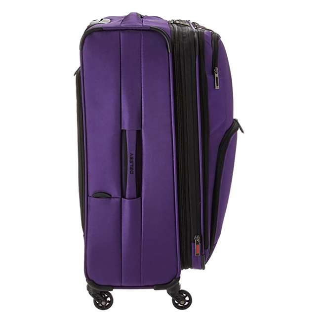 """40328282008 DELSEY Paris Sky Max 25"""" Expandable Spinner Softside Travel Luggage Case, Purple 2"""