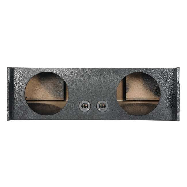QBSUV12-VENTED-U-A Q Power 2-Hole 12-Inch Vented Subwoofer Enclosure for SUVs (Open Box)