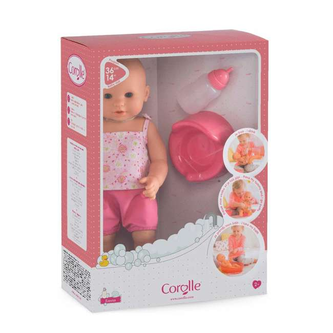 FPK23 + FRV17 Corolle Mon Grand Poupon Drink & Wet Potty Training Emma Doll and Toy Stroller 7