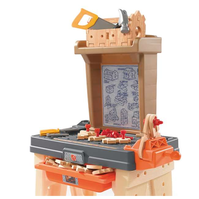762700-U-A Step2 Pretend Play Toy Wood Working Tools Real Projects Workbench (Open Box) 5