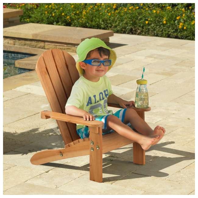 83 KidKraft Childrens Outdoor Patio Lawn Kid Sized Wooden Adirondack Chair, Honey 1