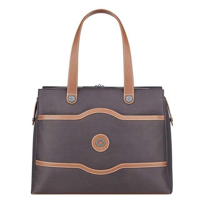 40177435006 DELSEY Paris Women's Chatelet Designer Soft Air Travel Shoulder Bag, Chocolate 1