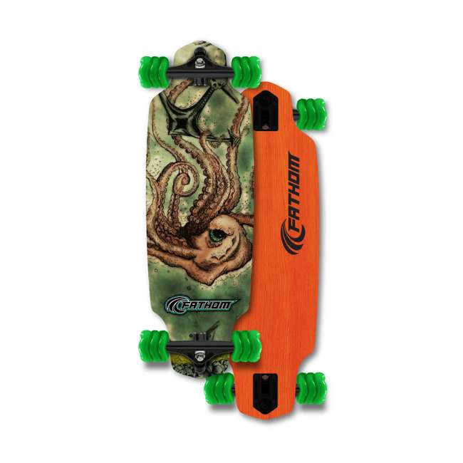 T8-3066 + 08149-SHARK Triple 8 Skate and Bike X-Small/Small Helmet, Neon Tangerine + Fathom Shark Wheel Skateboard 7