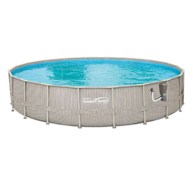 "P4B02048B167 + QLC-42005 Summer Waves 20' x 48"" Above Ground Pool + Qualco Pool Chemical Maintenance Kit"