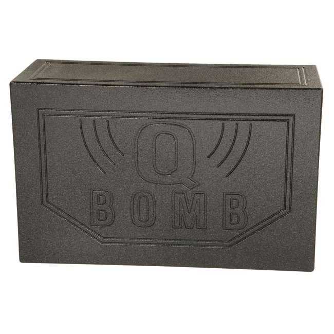 """QBOMB12VL Q-POWER QBOMB12V 12"""" Dual Vented Car Audio Subwoofer Enclosure 3"""
