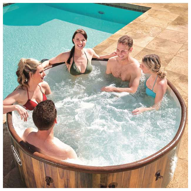 54190E-BW Bestway SaluSpa Helsinki AirJet 7 Person Inflatable Spa Hot Tub w/ Pump (2 Pack) 5