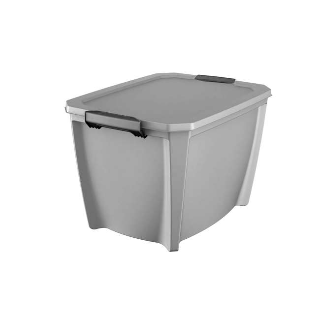 12 x T20GSLWH Life Story 20-Gallon Storage Bin with Handles, Gray (12 Pack) 1
