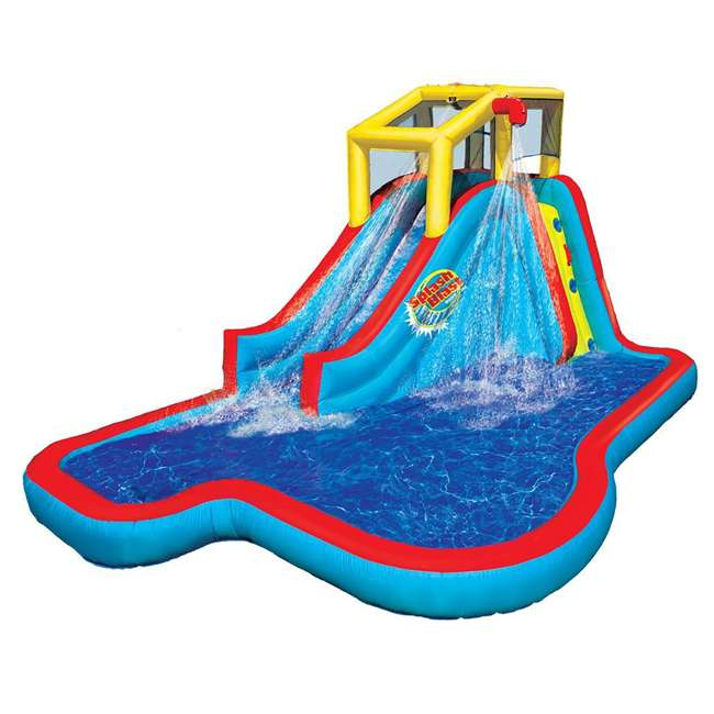 35076 Banzai Slide N Soak Splash Park Inflatable Outdoor Kids Water Park (Open Box)