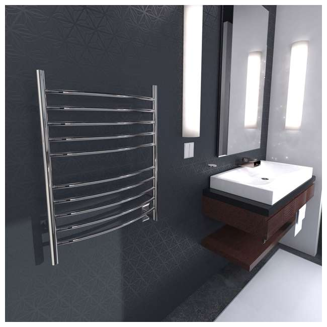 RWH-CP Amba Radiant Hardwired Curved Electric Towel Warmer (2 Pack) 3
