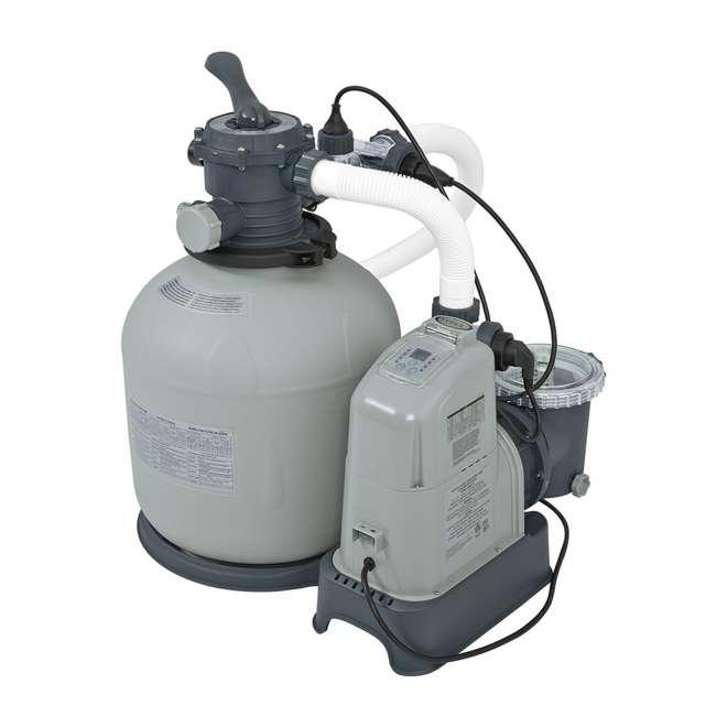 I28679 Intex Krystal Clear 2650 GPH Saltwater System & Sand Filter Pump (Brown Box)