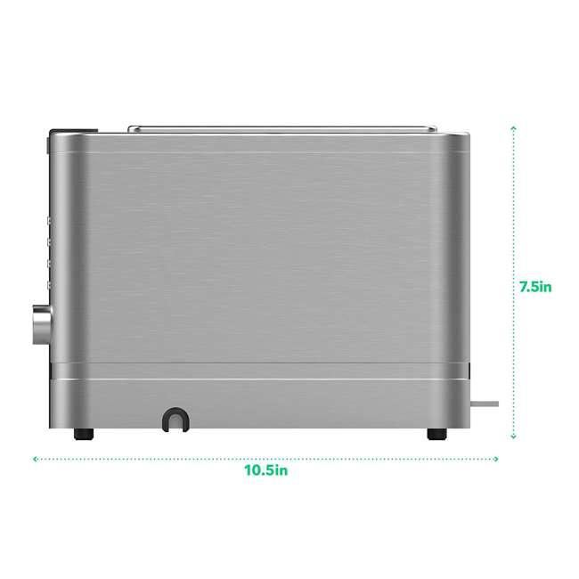 VRM010011N Vremi VRM010011N Retro Stainless Steel Countertop Wide Slot 2 Slice Toaster 3