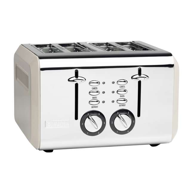 75011 Haden 75011 Cotswold Wide Slot Stainless Steel Retro 4 Slice Toaster, Beige