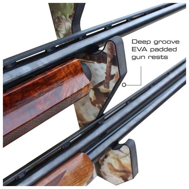 38-4042 Rush Creek Creations 38-4042 Camouflage Laminate 3 Gun Mounted Display Wall Rack 4