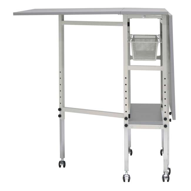 STDN-38011 Sew Ready Folding Hobby and Craft Table with Drawers 7