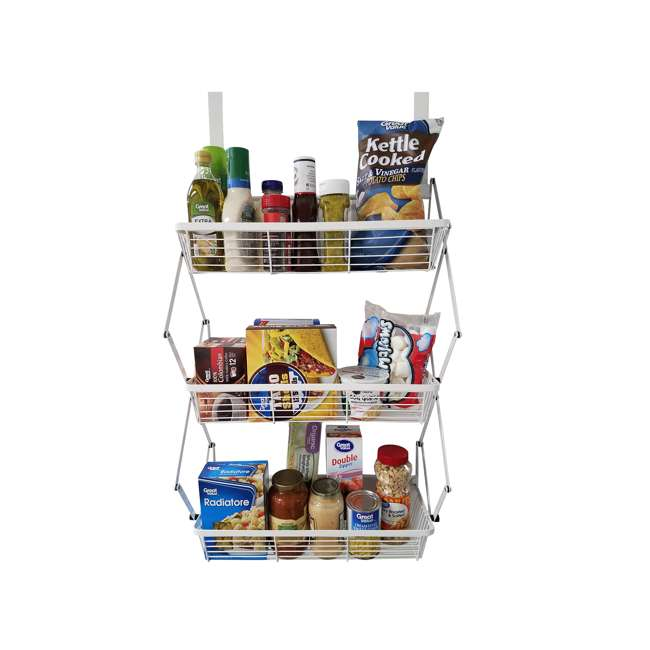 OTD-3R-WHI Supermoon Products Over the Door 3 Tier Hanging Rack (2 Pack) 5
