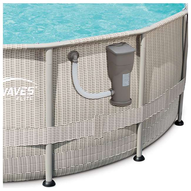 "P4B02048B167 + QLC-42005 Summer Waves 20' x 48"" Above Ground Pool + Qualco Pool Chemical Maintenance Kit 2"
