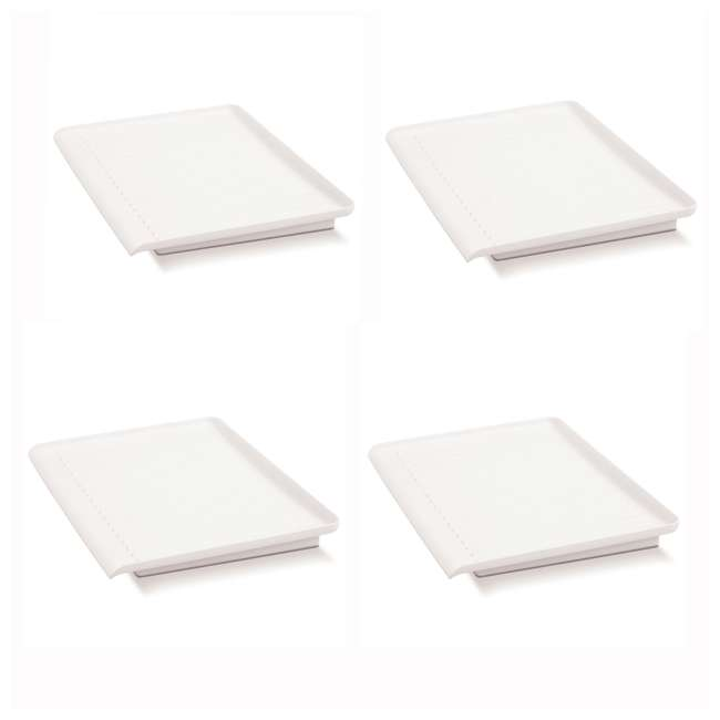 4 x 18114 Madesmart Elevated Counter-Top Draining Board, White (4 Pack)